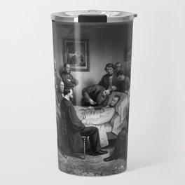 President Abraham Lincoln On His Deathbed Travel Mug