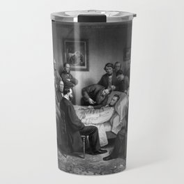 President Abraham Lincoln On His Deathbed Travel Mug