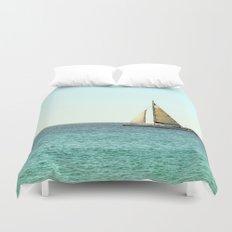Sail Away with Me - Ocean, Sea, Blue Sky and Summer Sun Duvet Cover