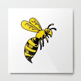Yellowjacket Wasp Drawing Metal Print