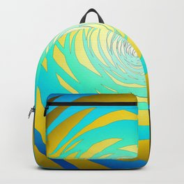 Simple Spiral Blue-Yellow Backpack