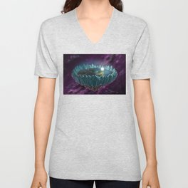 The Flat Earth Unisex V-Neck