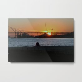 Daybreak on the river Metal Print