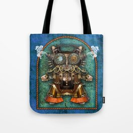 Cacotopia Steampunk Kitty - blue Tote Bag