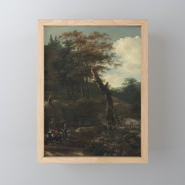 Wooded Landscape with Travelers Framed Mini Art Print