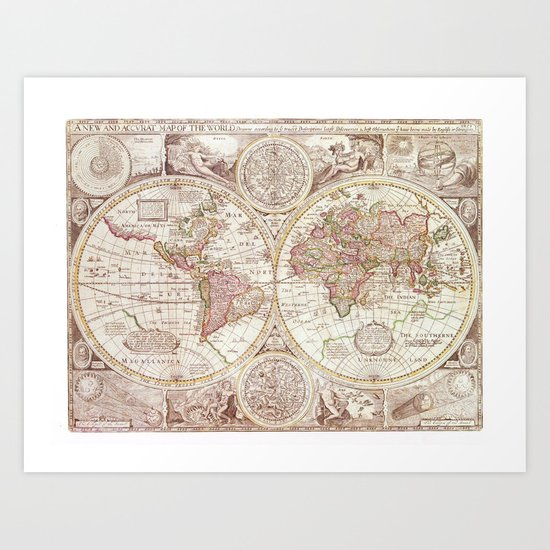 An Accurate Map Art Print