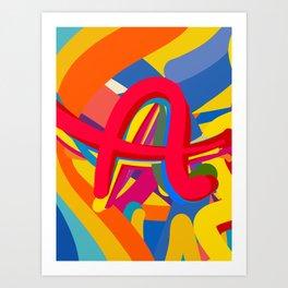 Graffiti Design Letter A symbol of Universe by Emmanuel Signorino Art Print