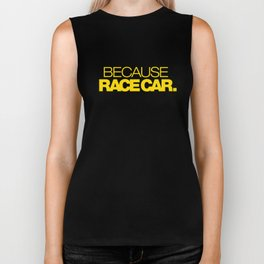 BECAUSE RACE CAR v5 HQvector Biker Tank