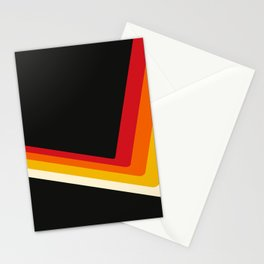 70s Bouncing Stripe Stationery Cards