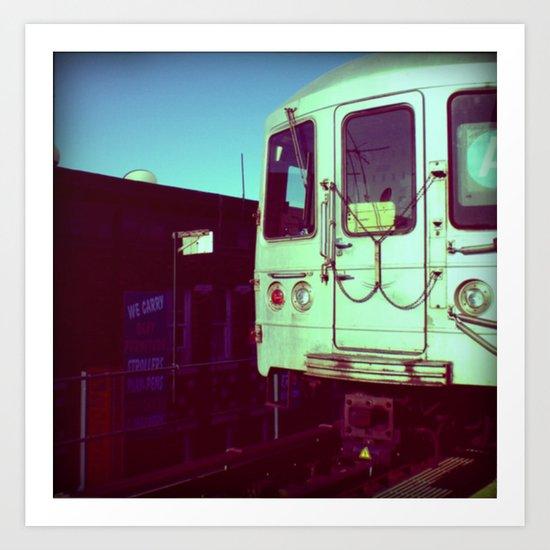 Subway A train in Queens - NYC Art Print