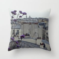 Sacré-Cœur from the roof Throw Pillow