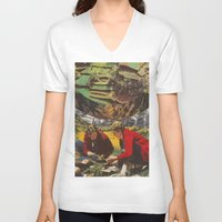 forrest V-neck T-shirts featuring Forrest People by Chris Minielly