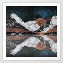 Landscape Mountains Art Print