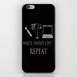 Write Shoot Edit Repeat iPhone Skin