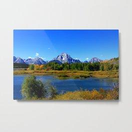 Mount Moran, Grand Tetons National Park, Wyoming Metal Print