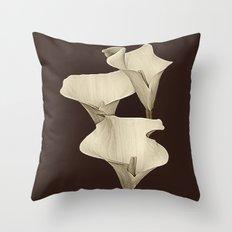 Cream Calla Lilly. Throw Pillow