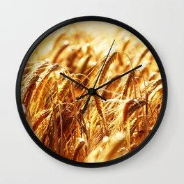 grain field Wall Clock