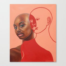 Dissociation in Red Canvas Print