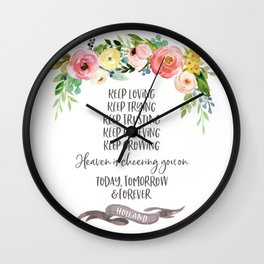 Elder Jeffrey R. Holland - Heaven is Cheering You On Wall Clock