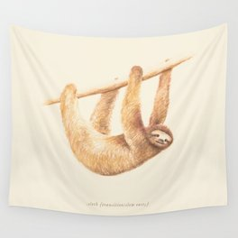 Css Animal: Sloth Wall Tapestry