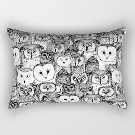 just owls black white Rectangular Pillow