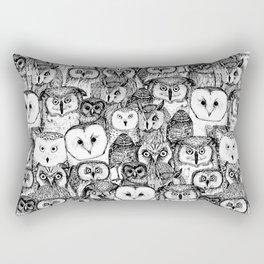 just owls black white Rectangular Pillow