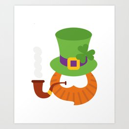 Funny St. Patrick's Day for Kids Boy Art Print