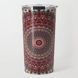Mediterranean Boho Kaleidoscope Travel Mug
