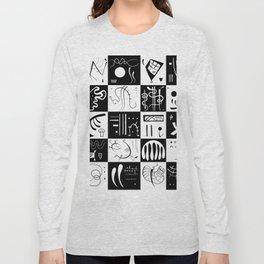 Kandinsky - Black and White Pattern - Abstract Art Long Sleeve T-shirt