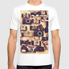 I love analogue photography Mens Fitted Tee White MEDIUM