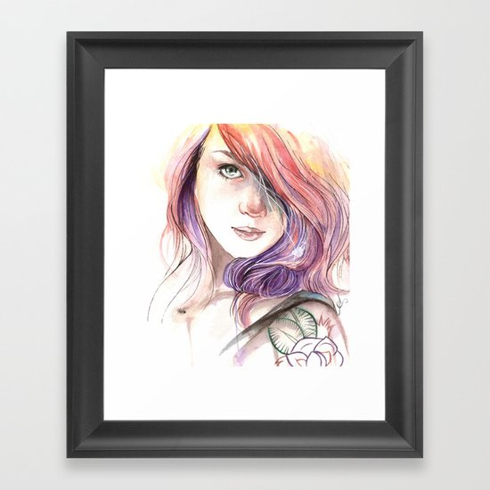 Lass Framed Art Print