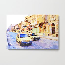 Aleppo: Taxi through the streets of Aleppo Metal Print