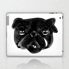 Irritated Sleepy Pug Dog Laptop & iPad Skin