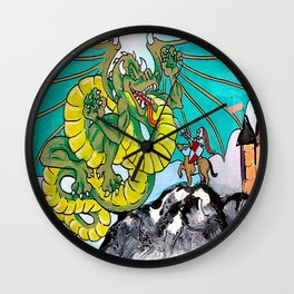 facing your fear (square) Wall Clock