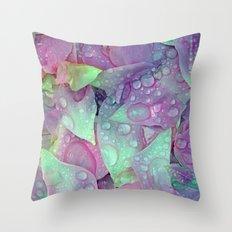 RAIN PETALS Throw Pillow
