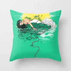 Sounds of Paradise Throw Pillow