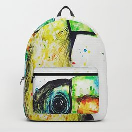 Toucan Watercolour Painting Backpack