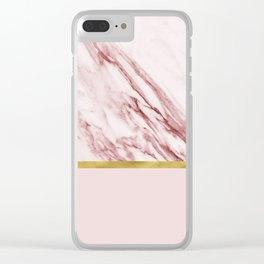 Alabaster rosa & gold on blush Clear iPhone Case