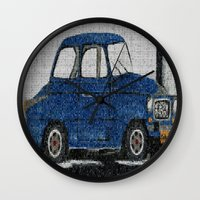 cuba Wall Clocks featuring Cuba Car by Sartoris ART