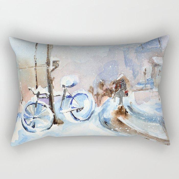 Lost bike Rectangular Pillow