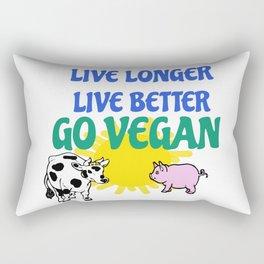 LIVE LONGER LIVE BETTER Rectangular Pillow