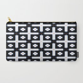 Geometric in Black and White Carry-All Pouch