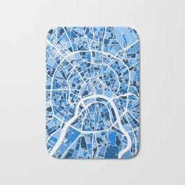 Moscow City Street Map Bath Mat