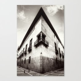 The oblique building Canvas Print