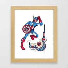 Captain A, the first Avenger Framed Art Print