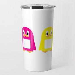Four-Color Penguins Travel Mug