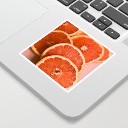 Grapefruit on Pink Sticker