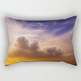 Fractal skies sunset Rectangular Pillow