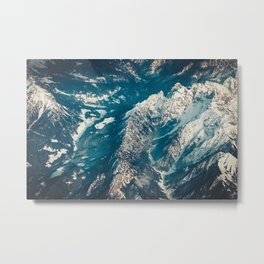 Alps from The Height Metal Print