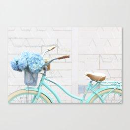 Turquoise Bike Canvas Print